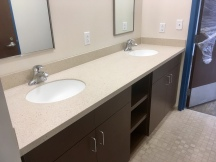 Corian Fossil with 810 sinks